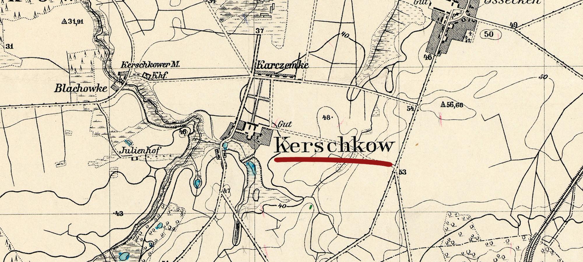 Fot. mapa Messtischblatt